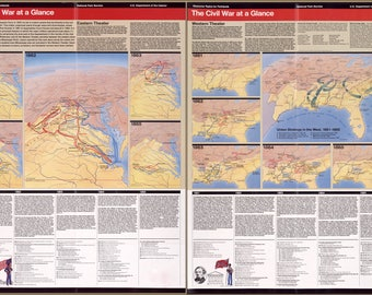 Poster, Many Sizes Available; Map Of American Civil War At A Glance