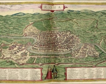 Poster, Many Sizes Available; Map Of Rome 1612