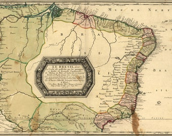 Poster, Many Sizes Available; Map Of Brazil 1656