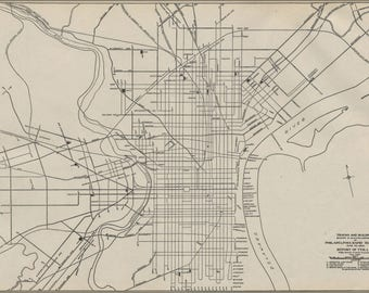 Poster, Many Sizes Available; 1911 Philly Streetcar Map 01
