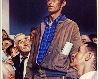 40% OFF SALE Poster, Many Sizes Available; Save Freedom Of Speech Buy War Bonds, By Norman Rockwell 1941