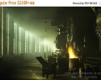 20% Off Sale - Poster, Many Sizes Available; Locomotive Roundhouse Steam Locomotives Of The Chicago & Northwestern Railway