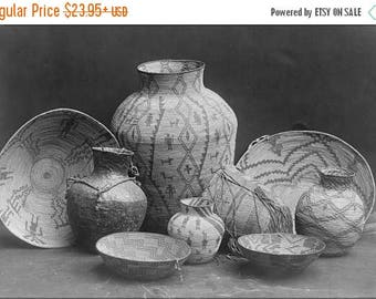 20% Off Sale - Poster, Many Sizes Available; Apache Native American Indian Baskets By Edward Curtis 1907