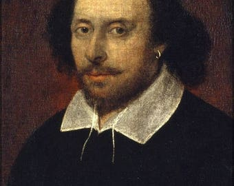 20% Off Sale - Poster, Many Sizes Available; William Shakespeare Chandos Portrait