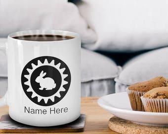 Rabbit Mug, Bunny Mug, Gift for Rabbit Lover, Gift for Child, Animal Lover Gift