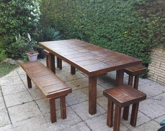 Bespoke handmade patio table