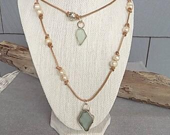 BoHo Island leather double necklace