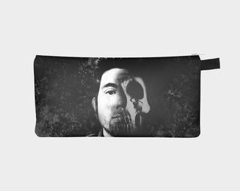 Deftones Cosmetic Bag, Deftones Pencil Case, Deftones Zippered Pouch, Choose Your Own Lyrics and Colors, Change Purse, Chino Moreno Art, Bag