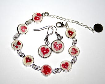 Special Valentine's day Duo Bracelet and earrings