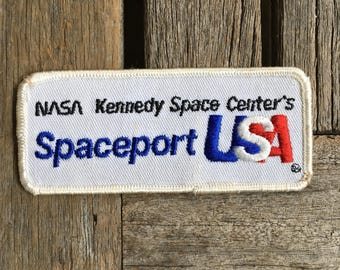 Spaceport USA. NASA Kennedy Space Center Vintage Souvenir Travel Patch
