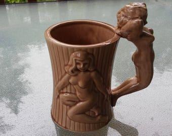 Vintage pin up girl mug