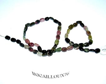 Multi TOURMALINE wire 3 * oval - for creating beads