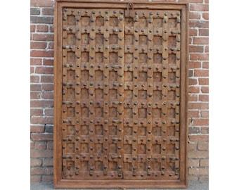 Antique Gujrat Carved Door Antique Door Moroccan Door Spanish Rustic Door Carved  sc 1 st  Etsy & Moorish doors | Etsy pezcame.com
