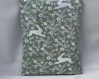 Oilcloth book sleeve, book, bag, book bag