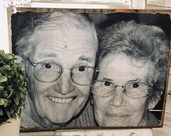 Votre Photo transformé en Art bois rustique