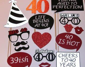 40th Birthday Photo Prop / Fabulous 40 / 39ish (2139D)