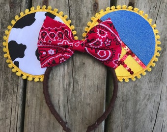 Toy story jessie disney ears headband - disney ears - toy story birthday - toy story cosplay - jessie costume - toy story costume