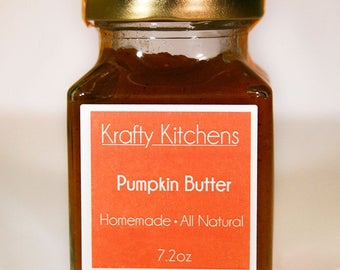 Pumpkin Butter 7oz  - All Natural
