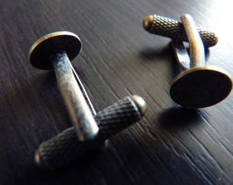 2 supports for chic BRONZE cufflinks