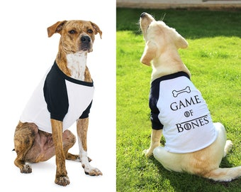 Game of Thrones Dog T-shirt, Dog Top, Game of Bones GOT Gifts Pet Clothing S/M/L