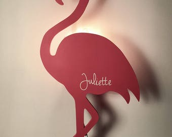Customizable to the wall pink Flamingo applique