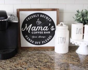 mama's coffee bar sign | two size options | mini or large coffee bar