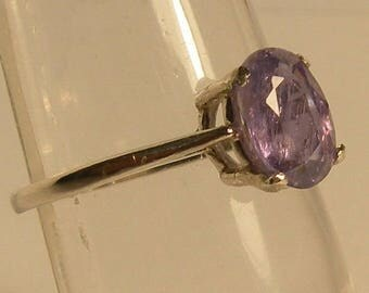 Natural untreated 1.5 ct  purple sapphire & sterling silver 925
