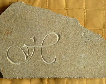 Letter on Chandore stone engraving