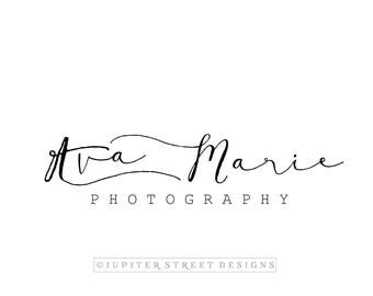 Logo Design- Photographer Logo- Text Based Logo-Handwritten Logo-Minimal Logo