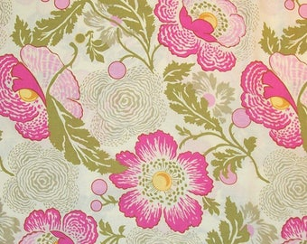Amy ButlerFabric, Midwest Modern, Fresh Poppies Fuchsia Pink - 1 FAT QUARTER