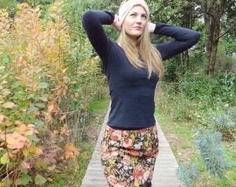 "Floral short skirt ""Bunch of Flower"""