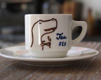 Tea Rex porcelain - cup coffee mug Tea Cup
