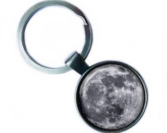 NASA Photograph The Moon Keychain Keyring