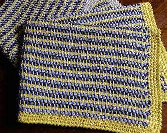 Tunisian crochet placemats
