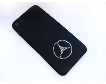 Swarovski iphone 7 case, iphone 7 case with Swarovski Crystal case for iphone 7 iphone Mercedes keychain