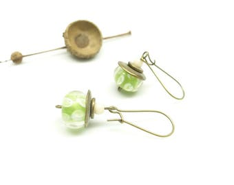 ~ Inclusion anise ~ earrings Bohemian pastel colors.