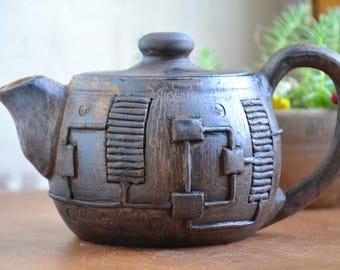 Pottery teapot, clay teapot Stoneware Teapot,  Ceramic Tea Maker, Pottery Kettle