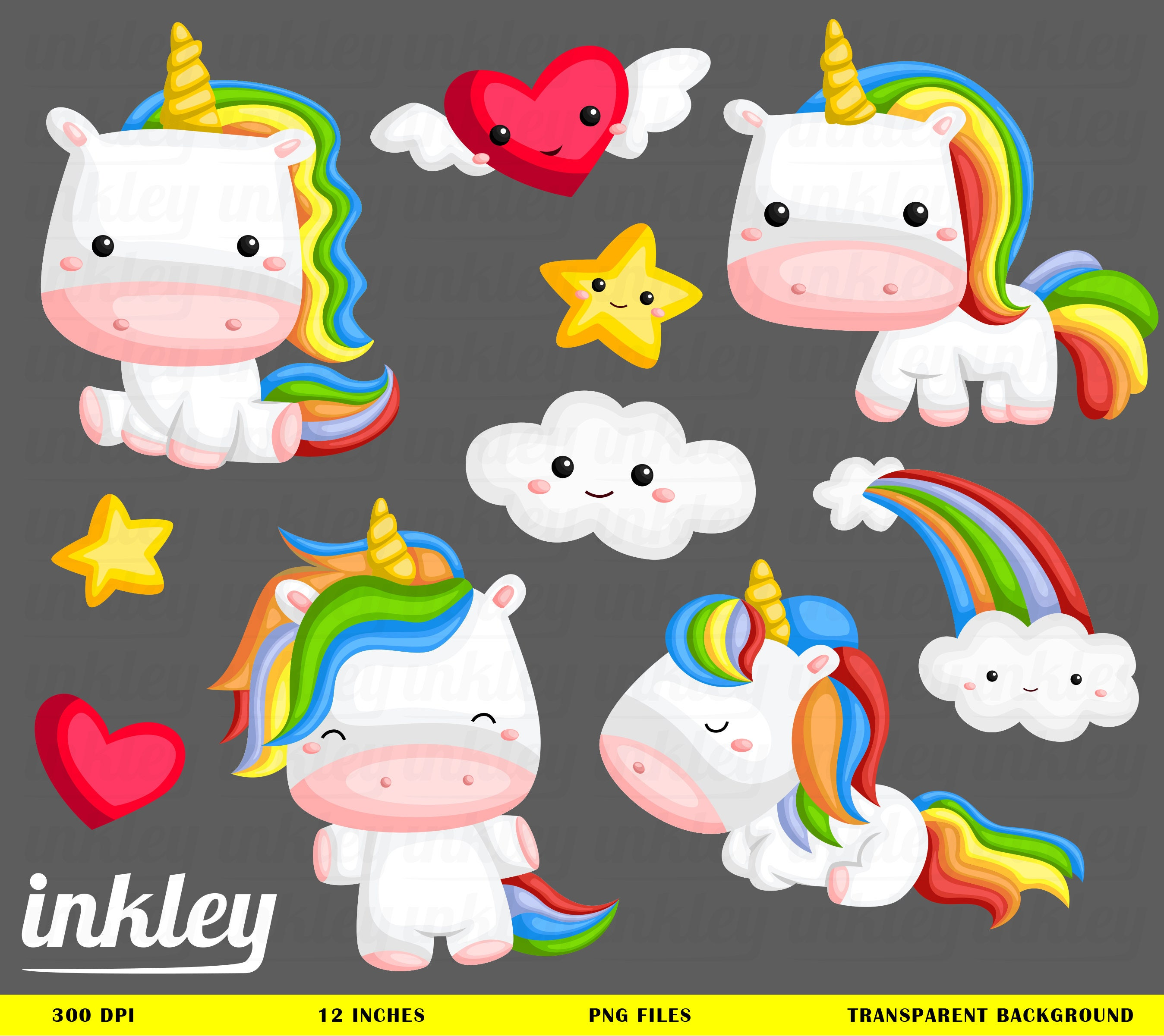 Rainbow Unicorn Clipart Rainbow Unicorn Clip Art Rainbow
