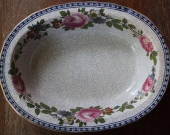 "Vintage Victorian Edwardian Era China FURNIVALS LIMITED 9"" Oval Serving Bowl 1522b c1890-13"