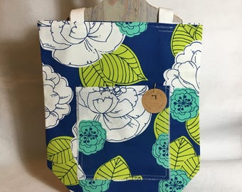 Market Tote | Greenery| Back to School |Gift for Her | Reusable| Cotton | Mom| Eco Friendly |School| Canvas| Gym | Grad Gift |Birthday Gift|