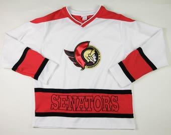 Vintage Ottawa Senators Hockey Jersey, Youth/Children's Size Large (14/16)