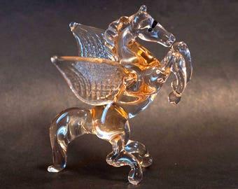 Glass Hand-Blown Pegasus Figurine (sku 301