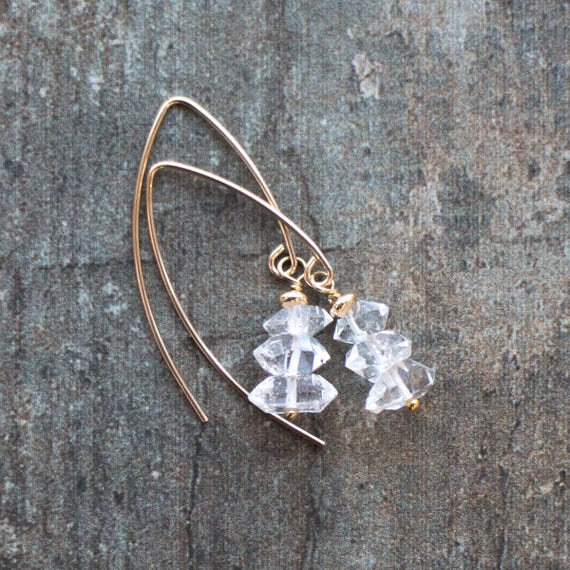 Herkimer Diamond Earrings - April Birthstone