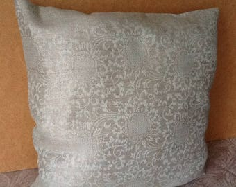 Pillow cover Pillow case 16 x 16 Decorative pillow Natural linen Organic fabric Eco style Hand made Gift for woman Cishion
