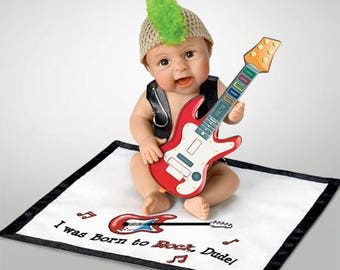 Ashton Drake -  I Was Born To Rock Dude Little Baby Doll by Sherry Rawn