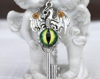 Steampunk dragon necklace