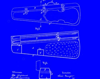 Violin-case Patent # 208409 dated September 24 1878.