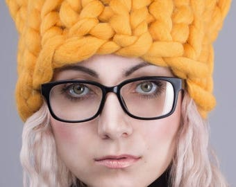 SUMMER SALE SALE!! Knitted Hat, Slouchy Beanie, Women Hat, Knitted Beanie, Chunky Hat, 24 colors