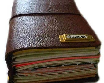 Midori Travelers Notebook Leather Journal  TN Fauxdori Build your own journal Design your own journal (a)