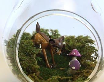 Fairy Garden Terrarium With A Deer